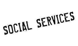 Social Services rubber stamp Stock Images