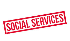 Social Services rubber stamp Royalty Free Stock Photo