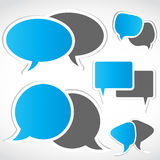 Social set för nätverkandedialogbubbla Arkivfoton