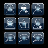 Social set vector Royalty Free Stock Images