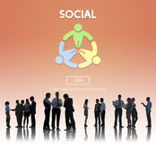 Social Socialize Society Unity Community Global Concept Royalty Free Stock Photo