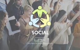 Social Socialize Society Unity Community Global Concept Stock Image