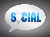 Social speech bubble Stock Photography