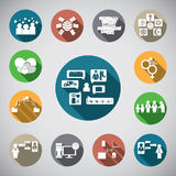 Social spot icon. 13 icon in gray background Stock Photography