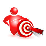 Social target icon Royalty Free Stock Photo