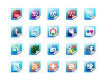 Social technology buttons Stock Image