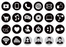 Social Technology Icon Set Royalty Free Stock Photos