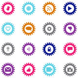 Social technology and media icon set Stock Image