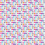 Social technology and networking icon background pattern Royalty Free Stock Photography