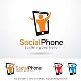Social telefon Logo Template Design Vector Arkivfoton