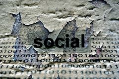 Social text on grunge background Royalty Free Stock Photos