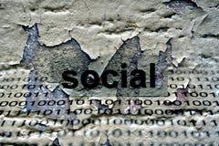 Social text på grungebakgrund Royaltyfria Foton