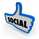 Social Thumb's Up Network Communication Stock Photography