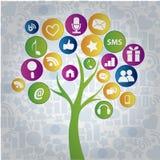 Social tree Stock Photo