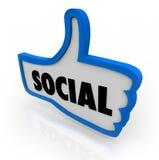 social tum för kommunikationsnätverk s upp Arkivbild