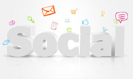Social type design. Technology  Internet  Concepts Royalty Free Stock Photography