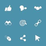 Social uppsättning för internetvektorsymbol Royaltyfria Bilder