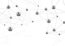 Social user network structure web background Stock Image