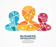 Social vector business teamwork infographic. Royalty Free Stock Photography