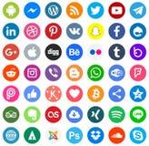 Social vektor eps10 för massmediafärgsymboler royaltyfri illustrationer