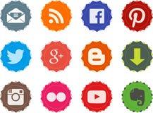 Social web buttons 1.0 Royalty Free Stock Photos