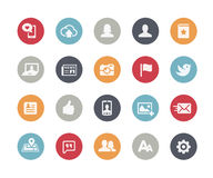 Social Web Icons // Classics Series. Vector icons for web, mobile or print in projects for Telecommunications, System Icons, Menu Apps, Social Communications and Royalty Free Stock Photography