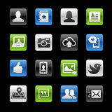Social Web Icons // GelBox Series Stock Image