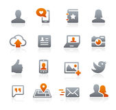 Social Web Icons -- Graphite Series Stock Photo