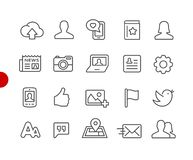 Social Web Icons // Red Point Series Royalty Free Illustration