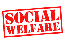 SOCIAL WELFARE. Red Rubber Stamp over a white background Stock Photography