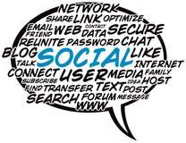 Social Word Balloon. An illustration of a social word balloon Royalty Free Stock Photography