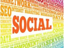 Social word cloud royalty free illustration