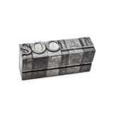 Social word, letterpress Royalty Free Stock Photo