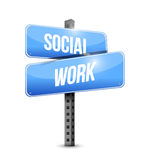 Social work road sign illustration design Royalty Free Stock Photography