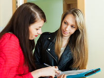 Social worker conducting survey among residents Stock Images