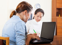 Social worker women Stock Images