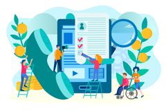 Vacancies for persons with disabilities royalty free illustration