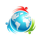 Social world icon. Concept vector people Royalty Free Stock Image