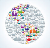Social World Population Stock Photo