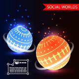 Social Worlds Abstract Background vector Stock Photos