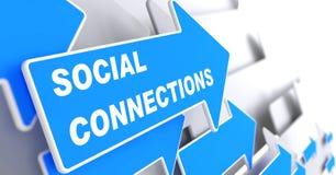 Sociala anslutningar. vektor illustrationer
