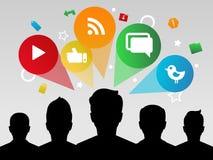 sociala appsmedel Stock Illustrationer