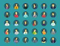 Sociala avatars för nätverksförhållandeperson Arkivfoto