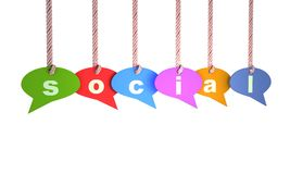 sociala ballons Arkivfoton