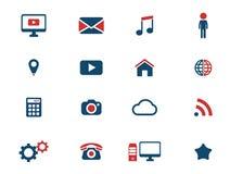Sociala för massmedia symboler enkelt Royaltyfri Fotografi