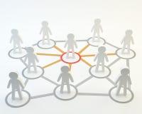 Sociala män för nätverksgemenskaphuvud Arkivfoto
