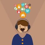sociala marknadsföringsmedel Arkivbilder