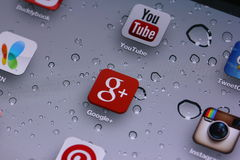 Google plus Arkivfoto