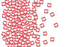 Sociala massmediasymboler Royaltyfria Bilder