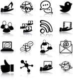 Sociala massmediasymboler Arkivbilder